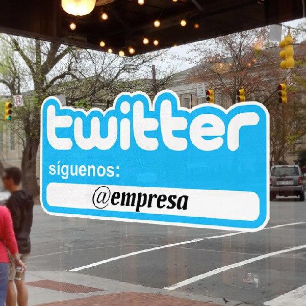 Wall Stickers: Síguenos en Twitter