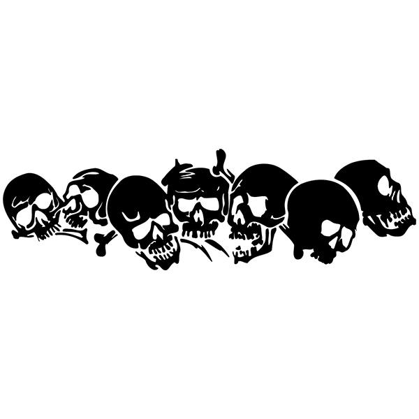 Car and Motorbike Stickers: skull41