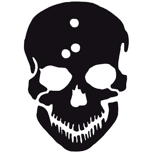 Car and Motorbike Stickers: skull51