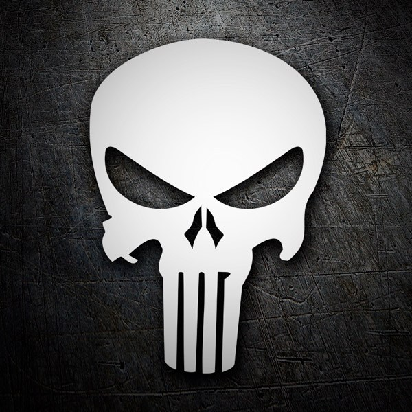 Car and Motorbike Stickers: Skull Punisher