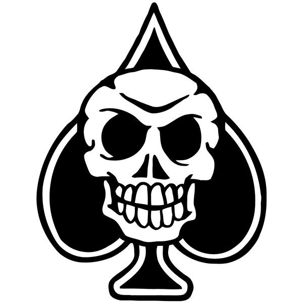 Car and Motorbike Stickers: Skull 82