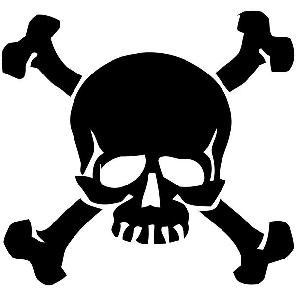 Car and Motorbike Stickers: Skull 85