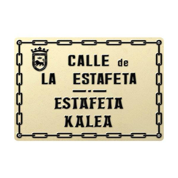 Wall Stickers: Estafeta Street sign