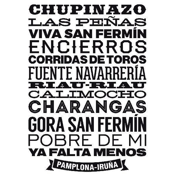 Wall Stickers: Pamplona-Iruña