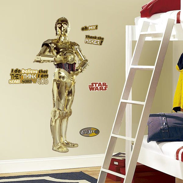 Wall Stickers: Life-size C3PO Wall Stickers