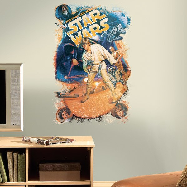 Wall Stickers: Star Wars Retro Luke Skywalker