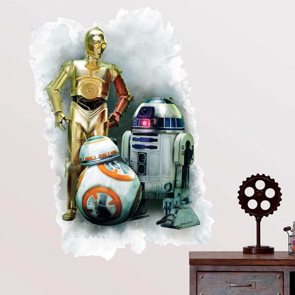 Wall Stickers: Wall sticker R2D2, CP30 and BB