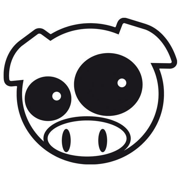 Car and Motorbike Stickers: Subaru Pig