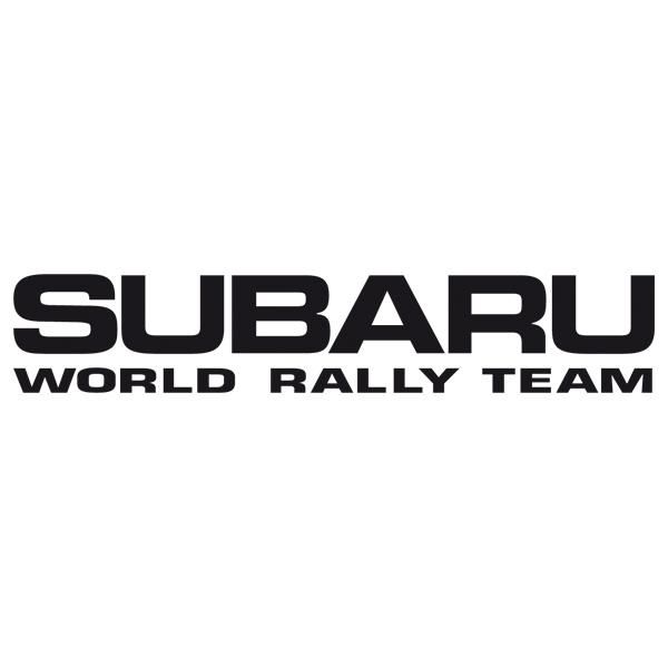 Car and Motorbike Stickers: Subaru World Rally Team