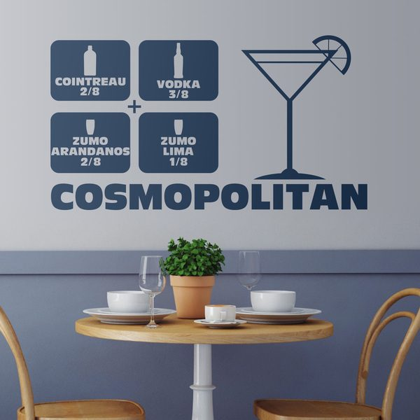 Wall Stickers: Cocktail Cosmopolitan