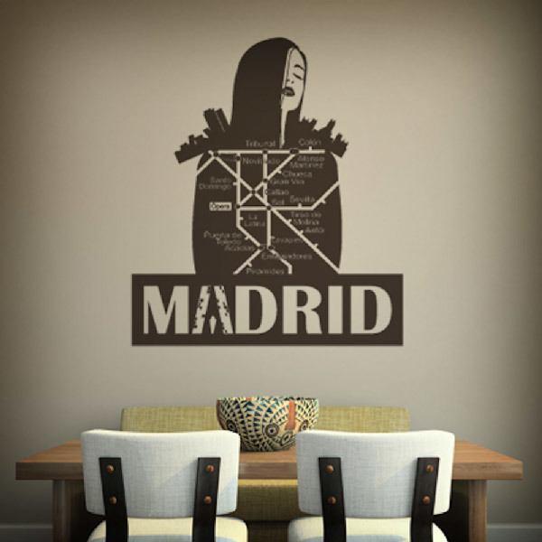 Wall Stickers: Madrid