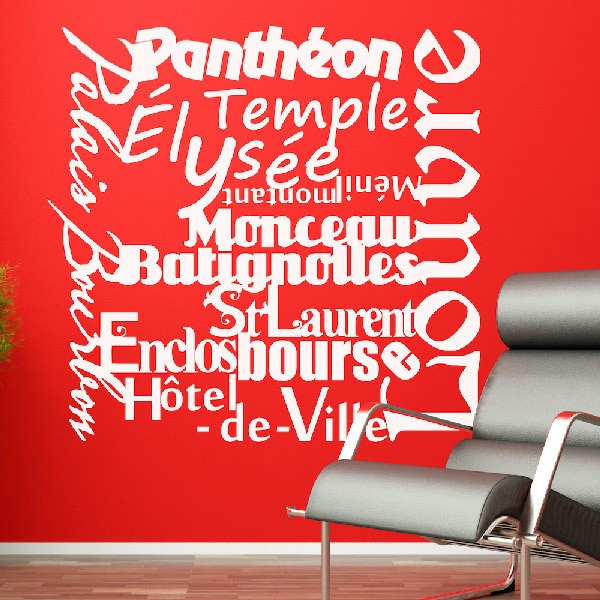 Wall Stickers: Paris Mon Amour