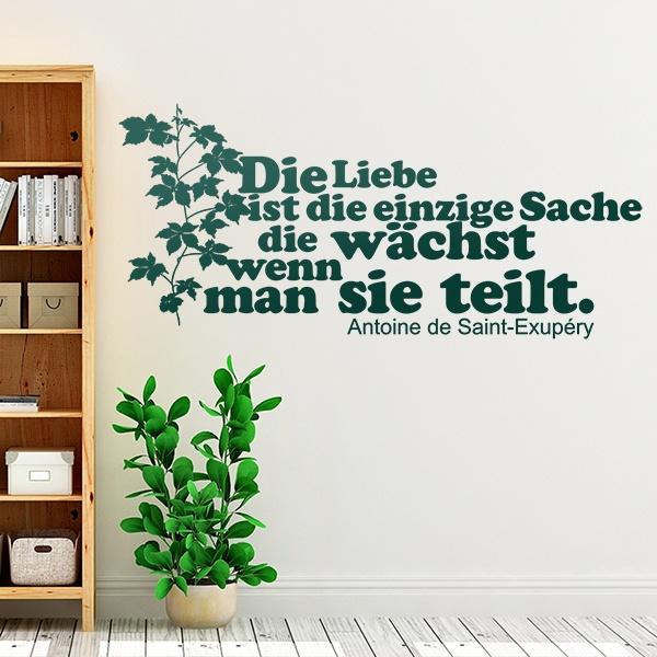 Wall Stickers: Die Liebe ist die einzige Sache...