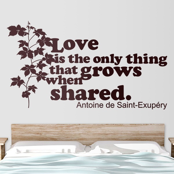 Wall Stickers: Love is the only thing that grows...