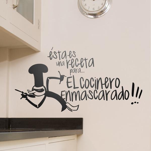 Wall Stickers: Receta Cocinero Enmascarado