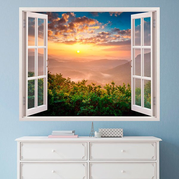 Wall Stickers: Sunset landscape