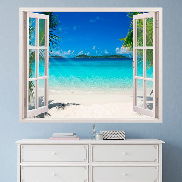 Wall Stickers: Caribbean beach