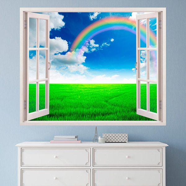 Wall Stickers: Rainbow in the field