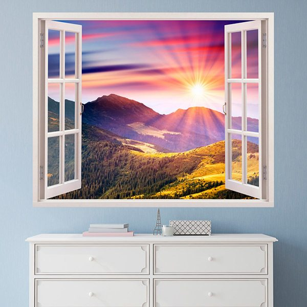 Wall Stickers: Sunset in the mountains