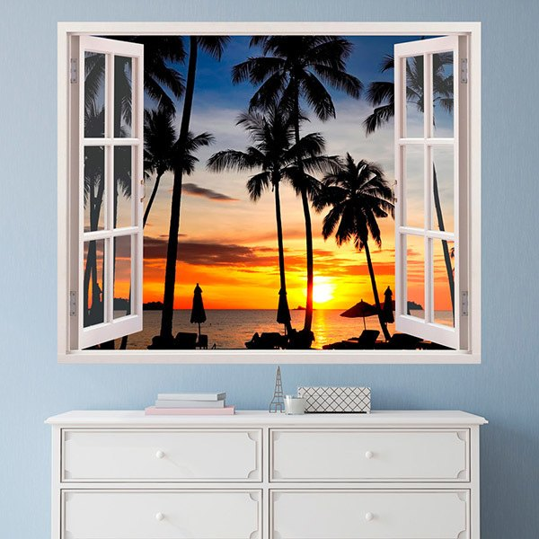 Wall Stickers: Night on the beach