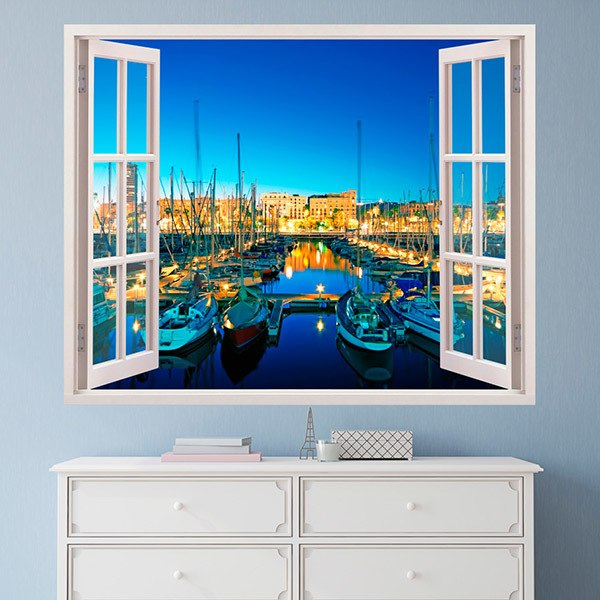 Wall Stickers: Night at the seaport