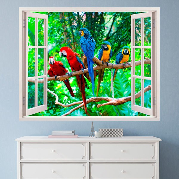 Wall Stickers: Parrots
