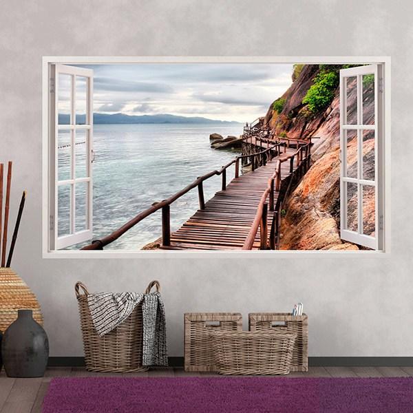 Wall Stickers: Panorama Bridge on the sea