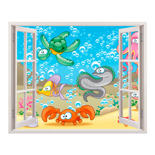 Stickers for Kids: Seabed Window