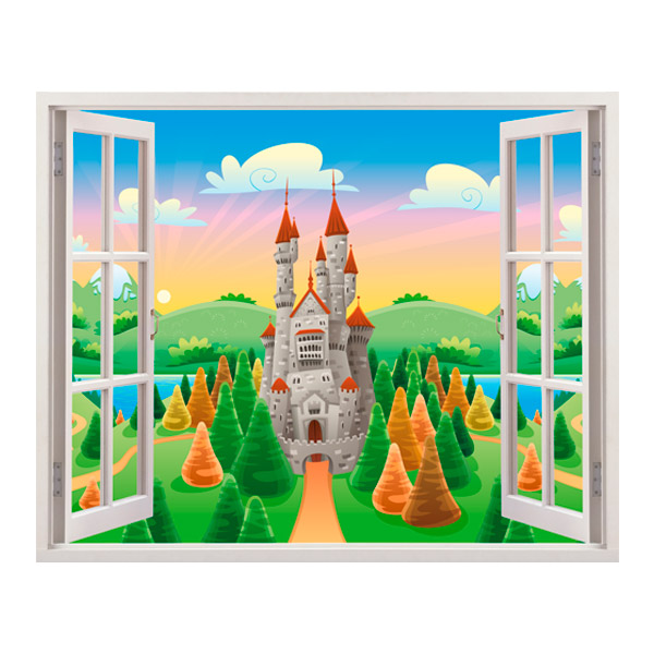 Stickers for Kids: Castle Sun