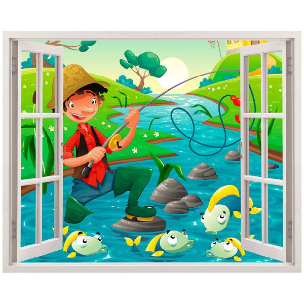 Stickers for Kids: Fisherman