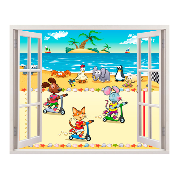 Stickers for Kids: beach race