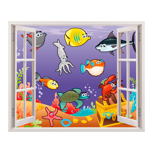 Stickers for Kids: marine animals