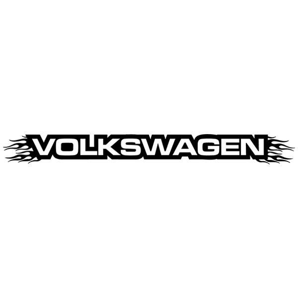 Car and Motorbike Stickers: Parasol Volkswagen