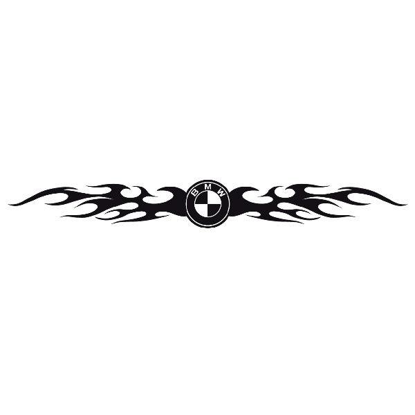 Car and Motorbike Stickers: Parasol BMW