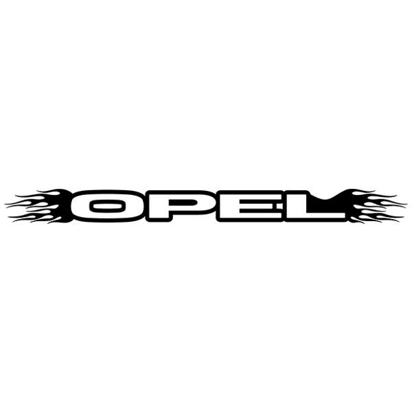 Car and Motorbike Stickers: Parasol Opel