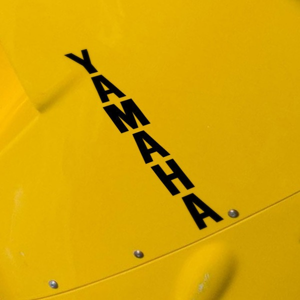 Car and Motorbike Stickers: Yamaha vertical