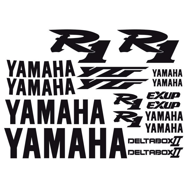 Car and Motorbike Stickers: YZF R1 2000