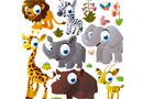 Wall decals animals kits