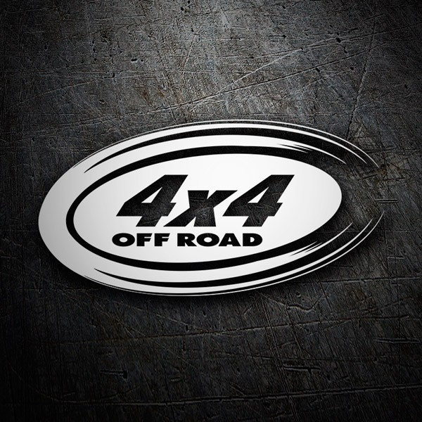 Car & Motorbike Stickers: 4x4 off road oval