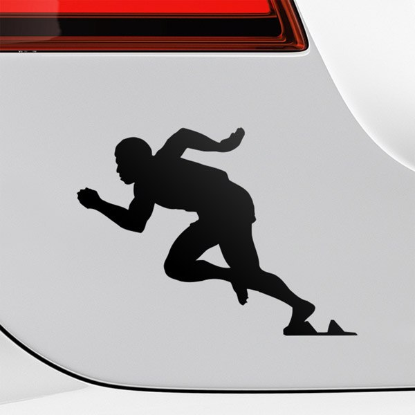 Wall Stickers: Atleta 100 metros