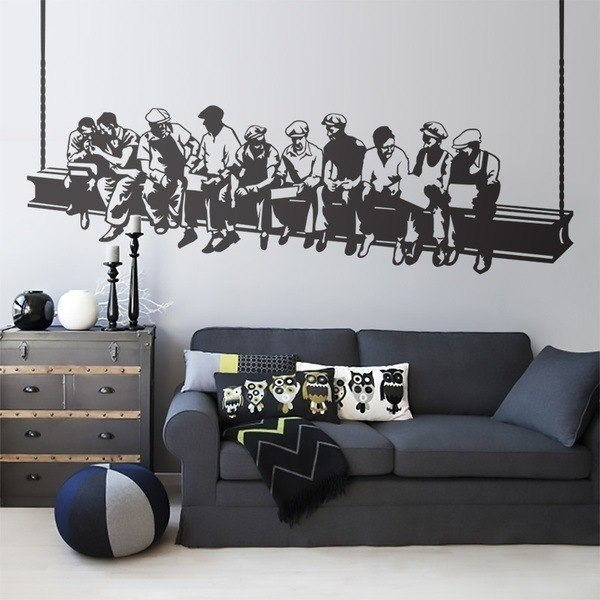 Wall Stickers: Lunch workers 0