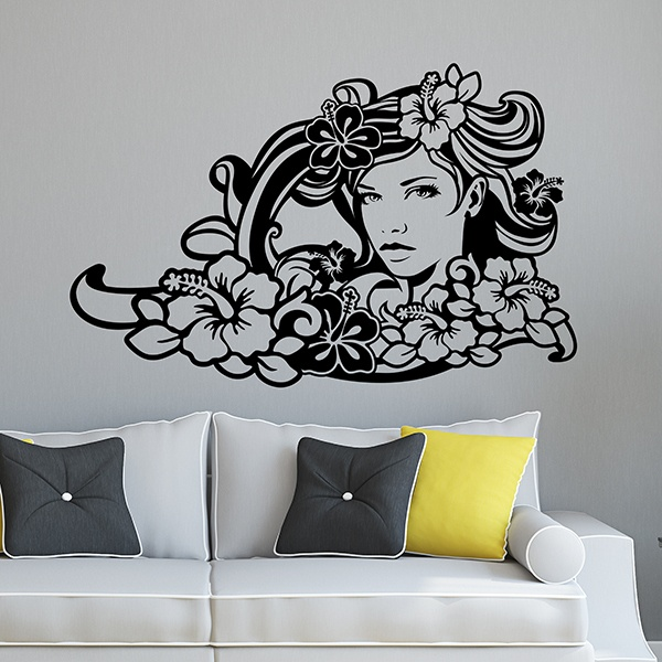 Wall Stickers: Surf Girl