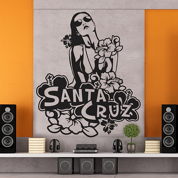 Wall Stickers: Girl Santa Cruz