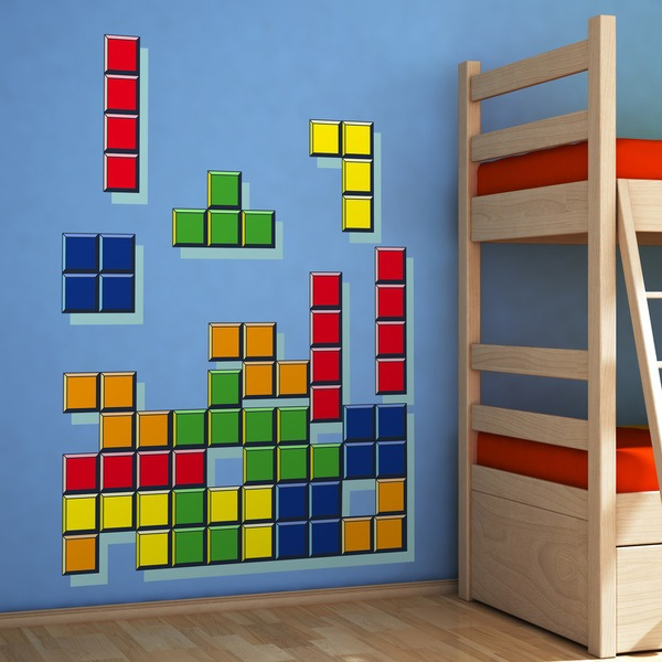 Wall Stickers: Tetris Pieces