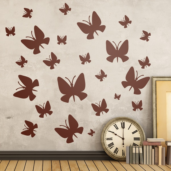 Wall Stickers: Kit 24 Butterflies