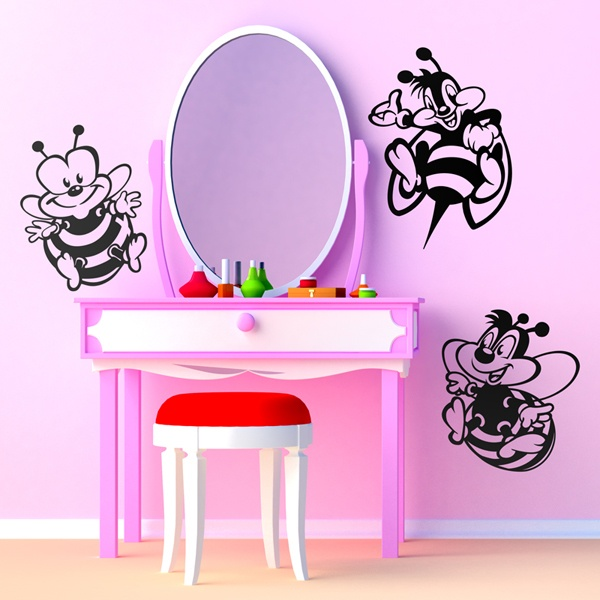 Stickers for Kids: Three bees