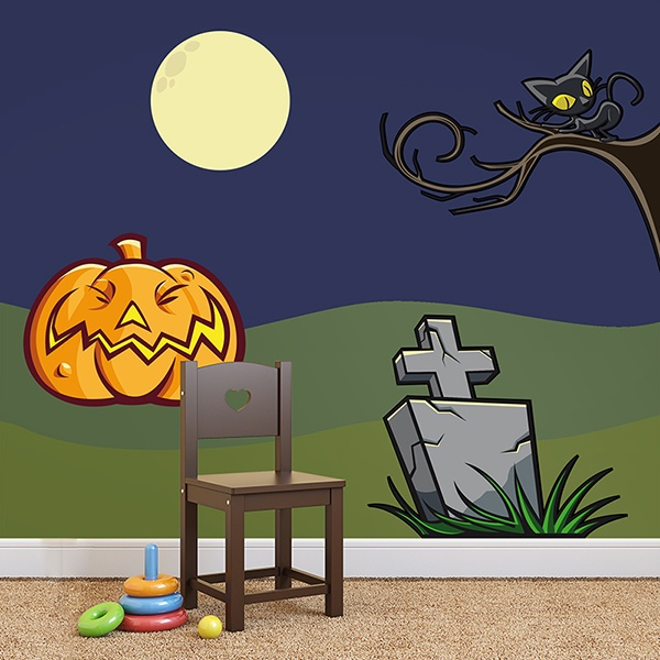 Wall Stickers: KIT halloween colored