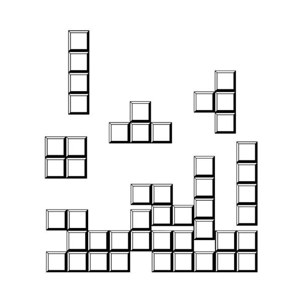 Wall Stickers: Tetris puzzle