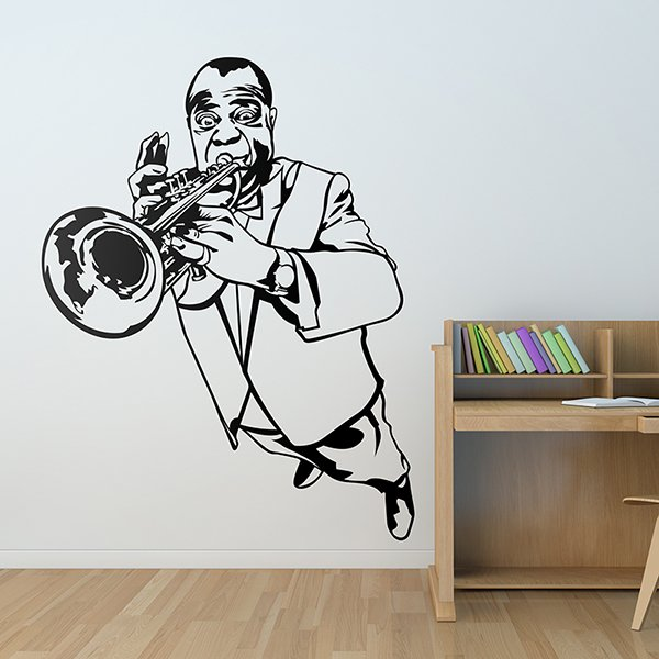 Wall Stickers: Louis Amstrong