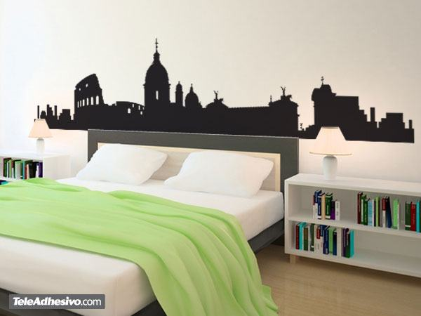 Rome skyline for Wall stickers roma